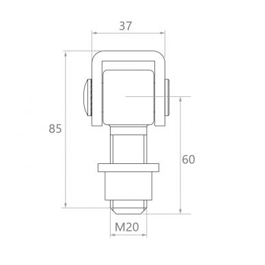 Reguliuojamas lankstas (M20) 2