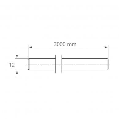 Strypas 12×3000 2